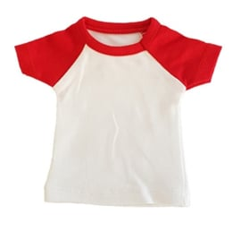 Mini tshirt wit/rood