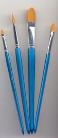 Penselen set nylon 4x plat 4 ST 12185-8508