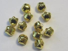 Kerst belletjes goudkleur 10 mm 12 ST (1 PK)