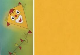 Folia Vliegerpapier goudgeel 70x100cm 88120-14