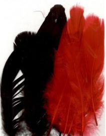 Veren gala  rood zwart mix 12,5-17,5 cm 15 ST