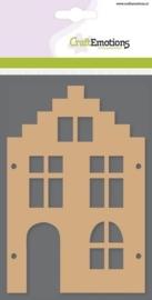 MDF basisvormen huis trapgevel (2-delig) 15cm x 10cm x 3mm