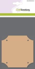 MDF basisvormen vierkant (3 st) 10cm x 10cm x  3mm
