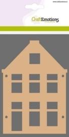MDF basisvormen huis puntgevel (2-delig) 15cm x 10cm x 3mm