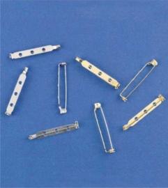 Brochespelden zilverkleur 38 mm 4 ST 11808-1141
