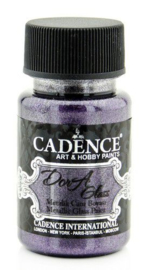 Cadence Opague Glas & Porselein verf Metallic Dark orchid 01 013 3139 0050  50 ml