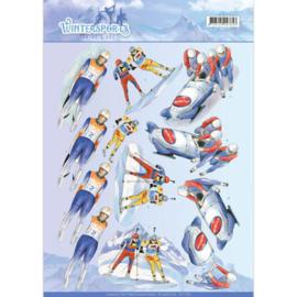 3D Knipvel - Jeanine's Art - Wintersports - Biathlon