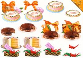 Die Cut - Hartelijk gefeliciteerd taarten Puch Out