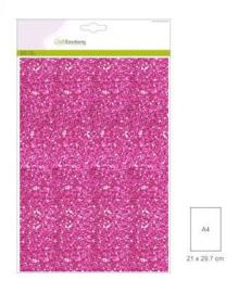 1 vel cyclaam Glitterpapier   29x21cm 120gr