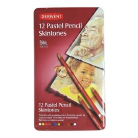Derwent Pastel Pencil huidskleur 12 st blik DPP2300563