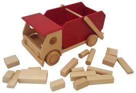 Auto groot met blokken container