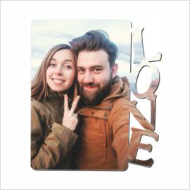MDF-standaard Love ca 14,6 x 18 cm
