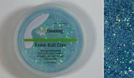 CraftEmotions Foamball clay - luchtdrogende klei - lichtblauw glitter 15gr