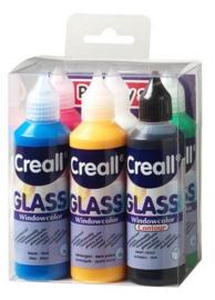 Creall Glass - glasstickerverf 6x80ml assortiment 1 PK 20600
