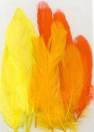 Veren geel oranje mix 12,5-17,5 cm 15 ST