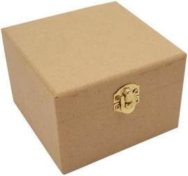 Houten kistje vierkant MDF