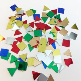 Confetti vierkanten en driehoeken assorti 10gr 12421-2108