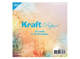 Joy Kraft paper 10 card 16 x 16   & 10 envelop 17 x 17