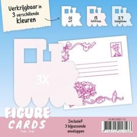 Figure Cards - Trein - Lichtroze