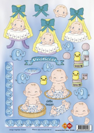 1 x Card Deco - Betsy Lurvink - It`s a Boy
