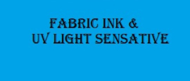 Fabric Ink / UV Light Sensative