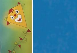 Folia Vliegerpapier donkerblauw 70x100cm 88120-34