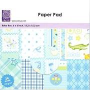 Paper Pad Baby Boy 6x6 inch 15,2x15,2 cm 24 sheets 190 g/m2