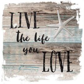 Servetten 5st - Live the life 33x33cm Ambiente 13311510