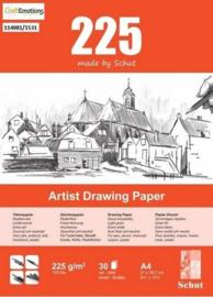 Schut Artist Drawing Paper  225 gram  A4 bloc a 30 vel