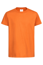 Classic-T Neck Kids Maat  XS (110/116) Oranje