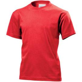 Classic-T Crew Neck Kids Maat XS (110/116) Scarlet Red
