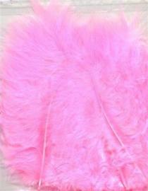 Marabou veren roze 15 ST