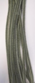 Chenille grijs 6mm x 30 cm 20st