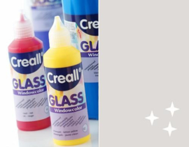 Creall Glass - glasstickerverf glitterzilver 1 FL - 80 ML 20572