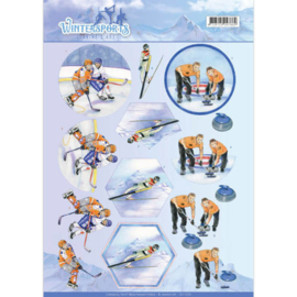 3D Knipvel - Jeanine's Art - Wintersports - Ice Hockey