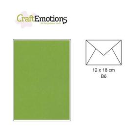 CraftEmotions Envelop B6 grasgroen - 18X12CM