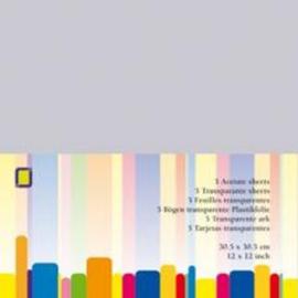 Transparante scrapbook sheets 30,5 x 30,5 cm 1PK/ 5 VL 3.1020