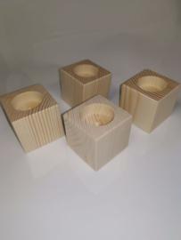 Vierkante kaarsenhouder 6x6x5,8 cm