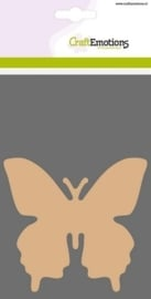 MDF basisvormen Vlinder  3 st 10 cm x 10 cm x 3mm
