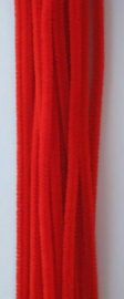 Chenille rood 6mm x 30cm 20st