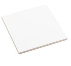 Witte keramische tegel 11 x 11  cm mat Sublimatie