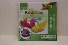 100 bl. origamipapier 20x20 ass
