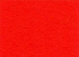 Viltlapje viscose rood  20x30cm - 1mm  1 vel