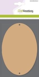 MDF basisvormen ovaal (3 st) 10cm x 14,8cm x  3mm