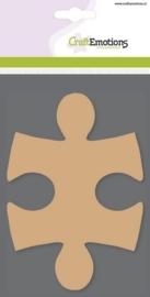 MDF basisvormen puzzelstuk (3 st) 14,5cm x 10cm x 3mm