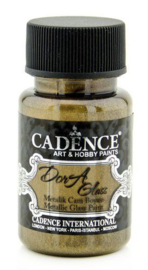 Cadence Opague Glas & Porselein verf Metallic Peridoot goud 01 013 3171 0050  50 ml