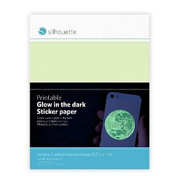 Glow in the dark stikkerpapier