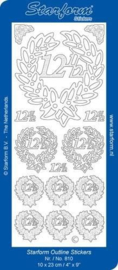 Starform Stickers Jubilee 2: 12,5 (10 PC) - Silver - 0810.002 - 10X23CM