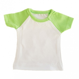 Mini tshirt wit/groen