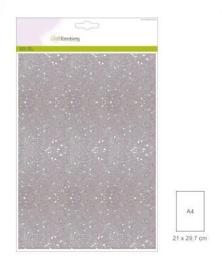 1 vel wit  Glitterpapier  29x21cm 120gr